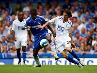 Photo: Richard Lane/Sportsbeat Images. <br />Chelsea v Birmingham. Barclay's Premiership. 12/08/2007. <br />Birmingham's Daniel De Ridder challenges Chelsea's Salomon Kalou.