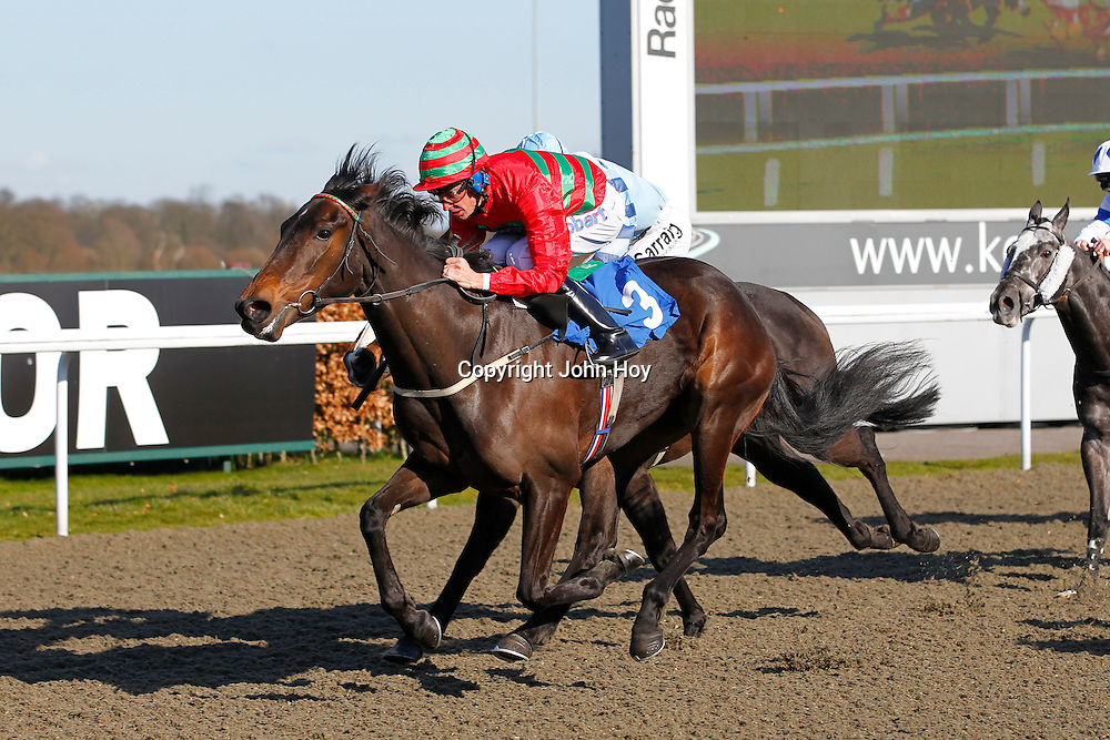 Divine Pamina and Richard Hughes winning the 4.30 race