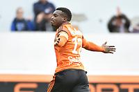 SOCCER : Lorient vs Caen - League 1 - 02/04/2017<br /> Joie de Moukandjo Benjamin (FC Lorient) sur son but<br /> Norway only