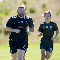 St Johnstone Training…<br />Brian Easton pictured during pre-season training at McDiarmid Park <br />Picture by Graeme Hart.<br />Copyright Perthshire Picture Agency<br />Tel: 01738 623350  Mobile: 07990 594431