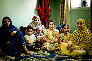 Oman, Al-Hamra. Very hospitable Omani family during Friday afternoon.