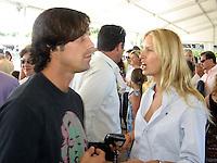 Christian Bale & Karolina Kurkova.Classic Horse Show.Bridgehampton, NY, USA.Sunday, September, 02, 2007.Photo By Celebrityvibe; .To license this image please call (212) 410 5354 ; or.Email: celebrityvibe@gmail.com;.