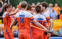 Den Bosch  -  Mink van der Weerden (Ned) heeft gescoord   tijdens   de Pro League hockeywedstrijd heren, Nederland-Belgie (4-3).    COPYRIGHT KOEN SUYK