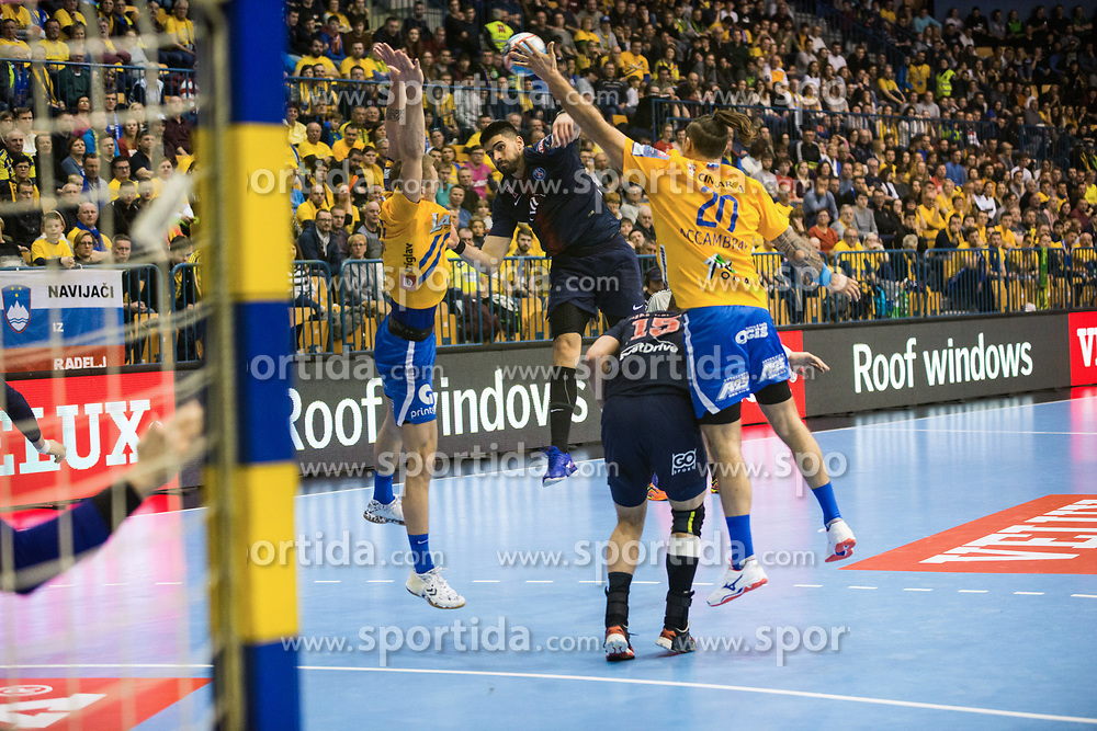 William Accambra  during handball match between RK Celje Pivovarna Lasko (SLO) and Paris Saint-Germain HB (FRA) in VELUX EHF Champions League 2018/19, on February 24, 2019 in Arena Zlatorog, Celje, Slovenia. Photo by Peter Podobnik / Sportida