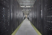 Data Servers in main server room at DC6 Data Center in Manassas VA