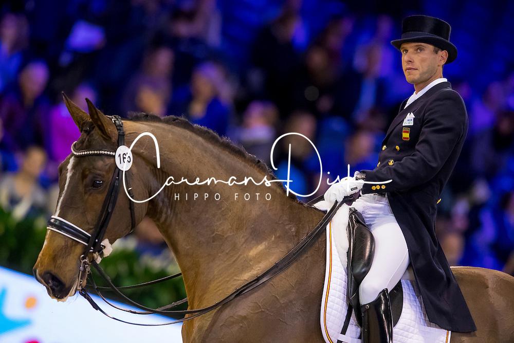 Carrascosa Borja, ESP, Foco Loco W<br /> FEI World Cup Dressage - Grand Prix<br /> Jumping Amsterdam 2017<br /> &copy; Hippo Foto - Leanjo de Koster<br /> 27/01/17
