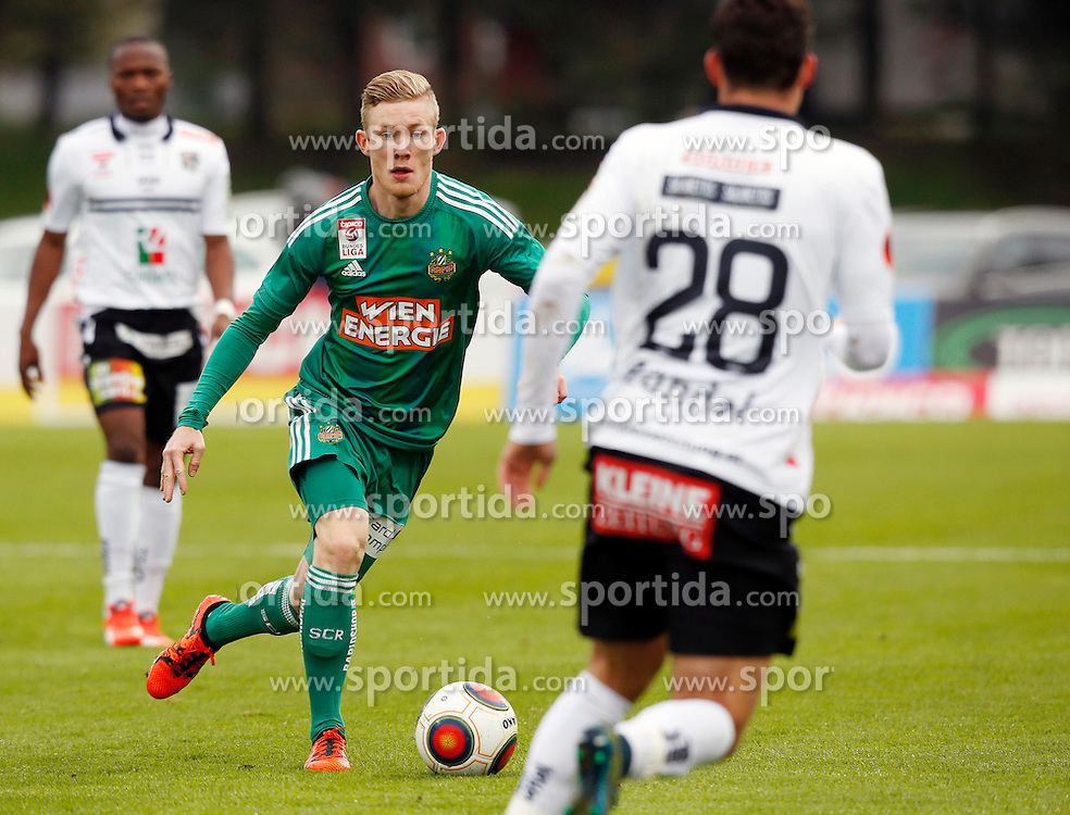 18.10.2015, Lavanttal Arena, Wolfsberg, AUT, 1. FBL, RZ Pellets WAC vs SK Rapid Wien, 12. Runde, im Bild v.l. Louis Schaub (SK Rapid Wien) // during the Austrian Football Bundesliga 12th Round match between RZ Pellets WAC and SK Rapid Wien at the Lavanttal Arena in Wolfsberg Austria on 2015/10/18, EXPA Pictures © 2015, PhotoCredit: EXPA/ Wolfgang Jannach