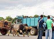 Traffic in Pons, Pinar del Rio, Cuba.