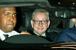 © Licensed to London News Pictures. 01/09/2019. London, UK. Chancellor of the Duchy of Lancaster Michael Gove departs the BBC.He departs after appearing on the Andrew Marr Show. Photo credit: George Cracknell Wright/LNP
