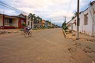 Bicycle race in San Antonio de los Banos, Artemisa, Cuba.