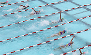 The girls 11-12 50 yard Backstroke event during the annual All City Competitive Swim Meet at Cherry Hill Aquatic Center in Cedar Rapids on Saturday, July 23, 2011. Swimmers ages 4 to 17 years old from all over the city competed in 74 events.