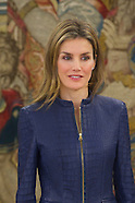"031414 Princess Letizia attends an Audience to a representation of the magazine ""Vogue Spain"""