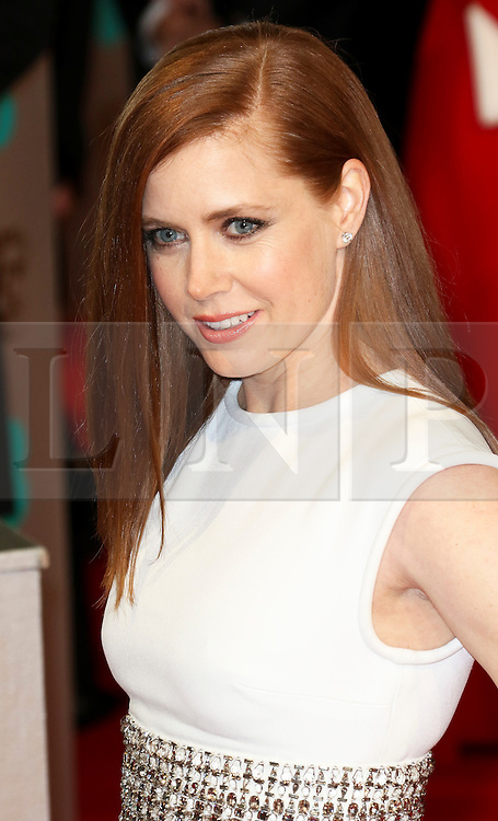 © London News Pictures. Amy Adams, EE British Academy Film Awards (BAFTAs), Royal Opera House Covent Garden, London UK, 08 February 2015, Photo by Richard Goldschmidt /LNP