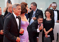 George Clooney and Amal Clooney at the premiere of the film Suburbicon at the 74th Venice Film Festival, Sala Grande on Saturday 2 September 2017, Venice Lido, Italy.