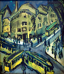 Painting Nollendorfplatz by Ernst Ludwig Kirchner at Markisches Museum in central Berlin Germany