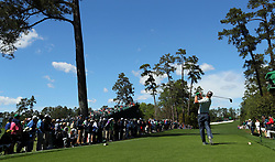 April 7, 2017 - Augusta, GA, USA - Charley Hoffman hits from the 18th tee during the second round of the Masters Tournament at Augusta National Golf Club in Augusta, Ga., on Friday, April 7, 2017. (Credit Image: © Curtis Compton/TNS via ZUMA Wire)
