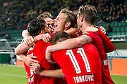 DEN HAAG - 30-10-2016, ADO Den Haag - AZ , Kyocera Stadion, AZ speler Robert Muhren heeft de 0-1 gescoord, juicht.