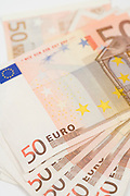 stack of 50 Euro bills