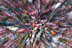 06.01.2012, Paul Ausserleitner Schanze, Bischofshofen, AUT, 60. Vierschanzentournee, FIS Ski Sprung Weltcup, Qualifikation, im Bild Feature von Fans // feture of fans during qualification of 60th Four-Hills-Tournament FIS World Cup Ski Jumping at Paul Ausserleitner Schanze, Bischofshofen, Austria on 2012/01/06. EXPA Pictures © 2012, PhotoCredit: EXPA/ Johann Groder