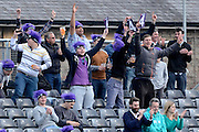 Gloucestershire fans celebrate four runs during the NatWest T20 Blast South Group match between Gloucestershire County Cricket Club and Middlesex County Cricket Club at the Bristol County Ground, Bristol, United Kingdom on 15 May 2015. Photo by Alan Franklin.