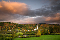 Fall Sunset, Stowe, Vermont