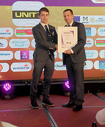 Best Retail Premises Award at the Mayo Business Awards was won Unit 7 Castlebar Henry Hughes Portwest presented the award to Sylvester Jennings on behalf of Unit 7. <br />Pic Conor McKeown