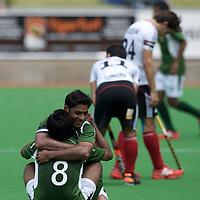 MELBOURNE - Champions Trophy men 2012<br /> Germany v Pakistan 1-2<br /> Pakistan into the half final<br /> foto: Pakistan celebrating.<br /> FFU PRESS AGENCY COPYRIGHT FRANK UIJLENBROEK