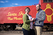 The Santa Fe New Mexico engagement photos of Katelyn & Ben at the Santa Fe Railyards