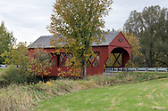 The Masham Bridge is a covered bridge along Lac Phillipe Road that crosses the La Pêche River in Sainte-Cécile-de-Masham, Québec, Canada. The Masham Bridge was built in 1958 and spans 19.5m / 64ft. at near the entrance to Gatineau Park.