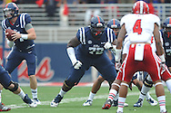 Mississippi Rebels offensive linesman Aaron Morris (72) vs. Louisiana-Lafayette at Vaught-Hemingway Stadium in Oxford, Miss. on Saturday, September 13, 2014. Ole Miss won 56-15 to improve to 3-0.