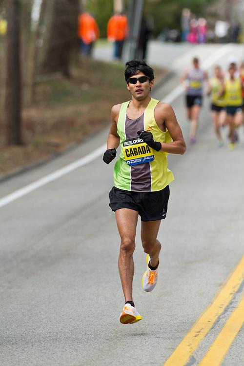 2013 Boston Marathon: Fernando Cabada