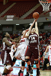 03 March 2013:  14 is Karly Buer during an NCAA Missouri Valley Conference (MVC) women's basketball game between the Missouri State Bears and the Illinois Sate Redbirds at Redbird Arena in Normal IL