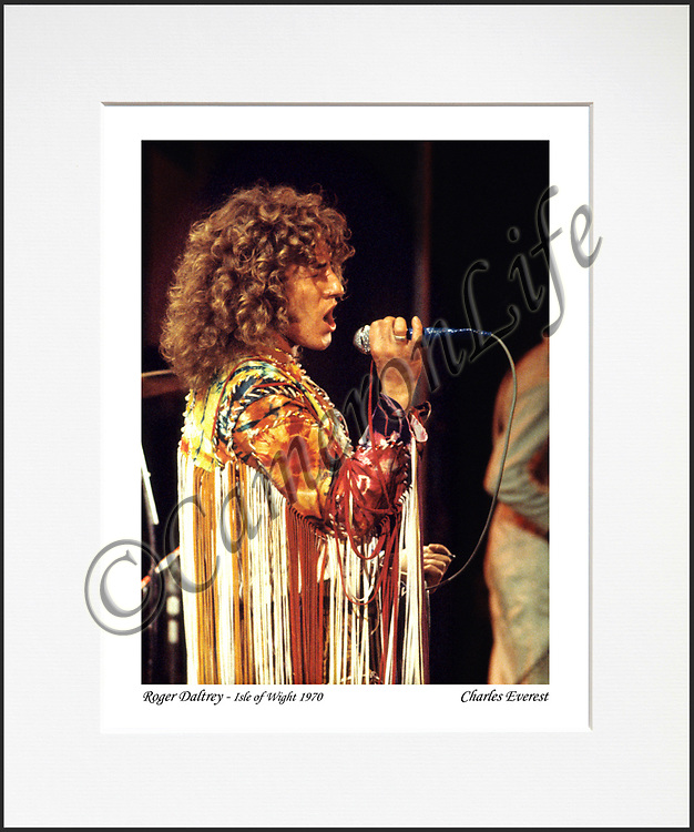 Roger Daltrey 2 - An affordable archival quality matted print ready for framing at home.<br />