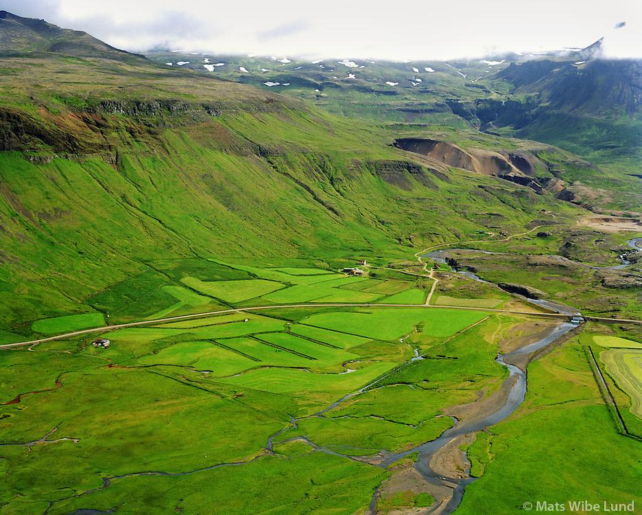 Fagrahlíð séð til suðurs Snæfellsbær, áður Fróðárhreppur / Fagrahlid viewing south, Snaefellsbaer former Frodarhreppur