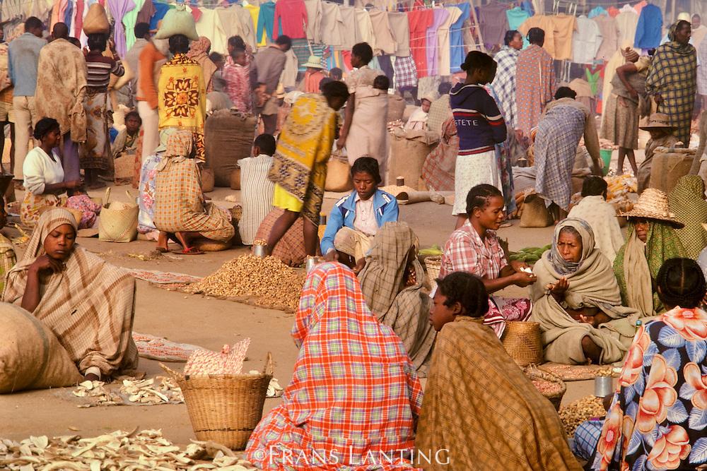 Market scene, Amboasary, Southern Madagascar