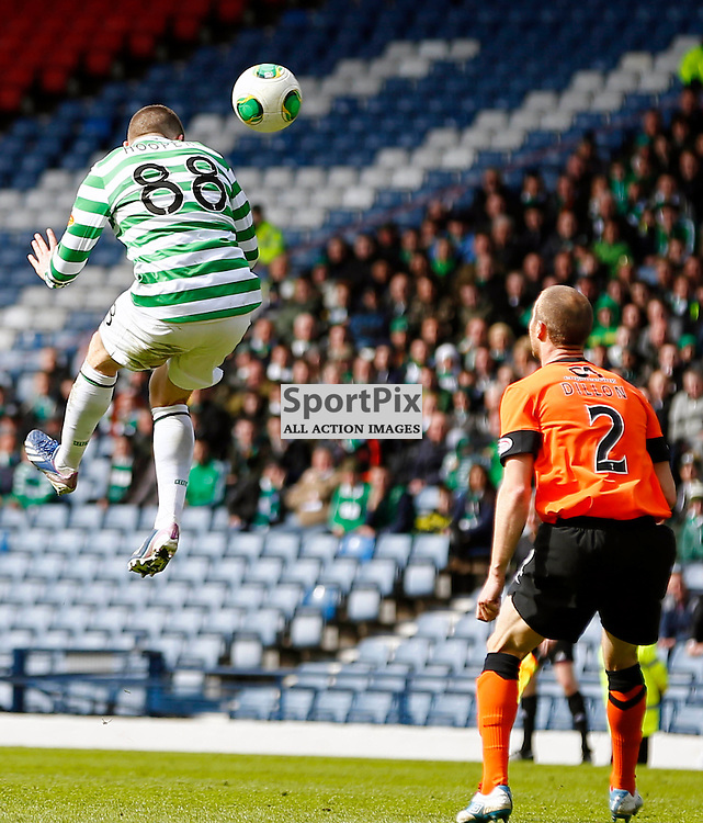 Dundee United v Celtic Scottish Cup Semi Final.Gary Hooper leaps for a high ball......(c) STEPHEN LAWSON | StockPix.eu