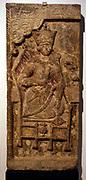 Limestone panel from a frieze showing the legendary Iranian hero Kaykhusrau