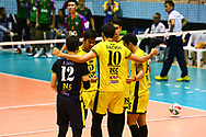 BANGKOK, THAILAND - MARCH 19: NK Fitness of Samut Sakhon reaction during the 2016–17 Men's Volleyball Thailand League Championship, Chantarubeksa Air Force Stadium, Bangkok, Thailand on March 19, 2017.<br /> .<br /> .<br /> .<br /> (Photo by: Naratip Golf Srisupab/SEALs Sports Images)<br /> .<br /> Any image use must include a mandatory credit line adjacent to the content which should read: Naratip Golf Srisupab/SEALs Sports Images