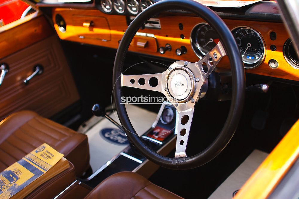Interior of a Ford Cortina - Gloucester Motorshow (13/06/10)