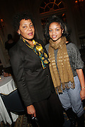 l to r: Carrie Mae Weems and Kalia Brooks at the Weeksville Heritage Society Awards and book celebration for ' Posing Beauty ' sponsored by The Weeksville Heritage Society and held at The Jumeirah Essex House hotel on Novemeber 16, 2009