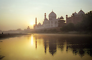 Sunrise reflected, Taj Mahal