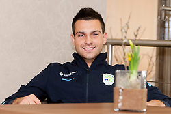 Miral Samardzic at the reception of Slovenian footballers before going on friendly match in Algeria, on 3rd March 2014, in Brdo pri Kranju, Slovenia. Photo by Urban Urbanc / Sportida.com