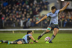 December 8, 2018 - Galway, Ireland - David Horwitz of Connacht kicks a conversion during the European Rugby Challenge Cup between Connacht Rugby and Parpignan at the Sportsground in Galway, Ireland on December 8, 2018  (Credit Image: © Andrew Surma/NurPhoto via ZUMA Press)