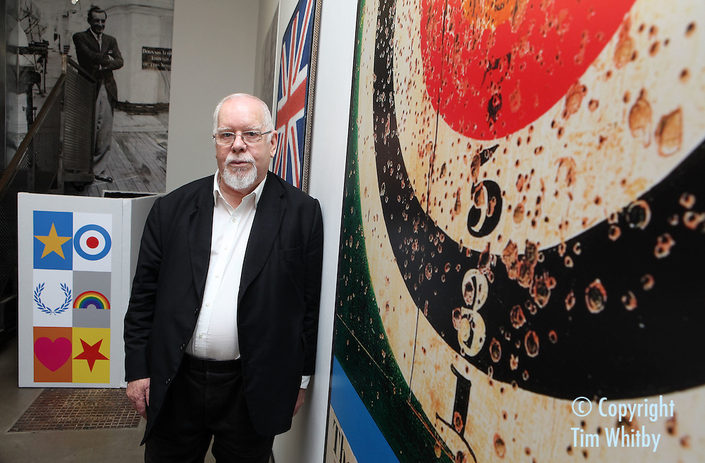 LONDON, ENGLAND - AUGUST 04:  Artist  Sir Peter Blake at the Fred Perry and Sir Peter Blake Blank Canvas Clothing Project Launch at Fred Perry at Old Spitalfields Market on August 4, 2011 in London, England.  (Photo by Tim Whitby/Getty Images for Fred Perry)