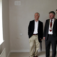 Hugh Murray - Architect, Tommy Brennan Mayor of Clare and Ger Dollard take a tour of one of the houses in Cul na Greine in Shannon on Thursday.<br /> <br /> Photograph by Yvonne Vaughan.