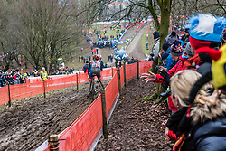 Anna KAY of Great Britain descending during the Women Under 23 race, UCI Cyclo-cross World Championships at Valkenburg, the Netherlands, 3 February 2018. Photo by Pim Nijland / PelotonPhotos.com | All photos usage must carry mandatory copyright credit (Peloton Photos | Pim Nijland)