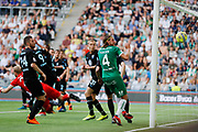 STOCKHOLM, SWEDEN - MAY 16: Nikola Djurdjic of Hammarby scores to 1-1 during the Allsvenskan match between Hammarby IF and Malmo FF at Tele2 Arena on May 16, 2018 in Stockholm, Sweden. Photo by Nils Petter Nilsson/Ombrello ***BETALBILD***