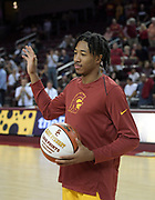 Nov 22, 2017; Los Angeles, CA, USA; Southern California Trojans guard Elijah Stewart (30) is recognized for scoring his 1,000th career point during an NCAA basketball game against the Lehigh Mountain Hawks at Galen Center.