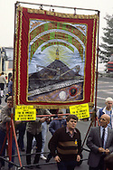Ferrymoor Riddings Branch Banner on a Yorkshire Area NUM march in Barnsley.