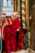 Tibetan spiritual leader Dalai Lama opens the exhibition Buddha?s Life, Path to the Present at De Nieuwe kerk in Amsterdam, The Netherlands, 15 September 2018. The 83-year-old Dalai Lama will be in the Netherlands for four days. copyrught robin utrecht